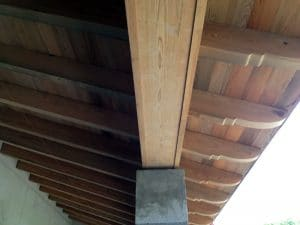 Custom Wood Roof Beams and Outlookers