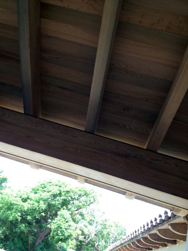 Custom Wood Roof Beams