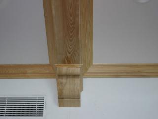 Custom Wood Ceiling Beams and Brackets