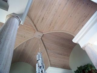 Custom Wood Ceiling Groin Vault