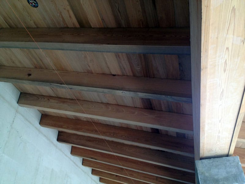 Wood Rafter Tails and Boxed Beam