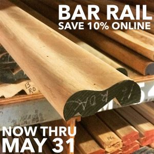 Bar Rail Save 10% Thru May 31