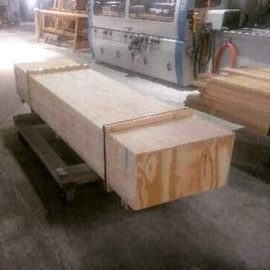 Wood bolection molding crated and ready to ship!